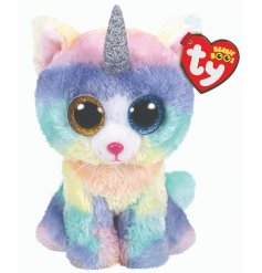 A colourfully cute uni-kitty TY soft toy, part of the wonderful Beanie Boo range