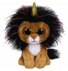 A colourfully cute lion TY soft toy, part of the wonderful Beanie Boo range