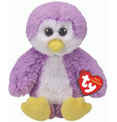 A cute and cuddly purple penguin soft toy from the fun TY range