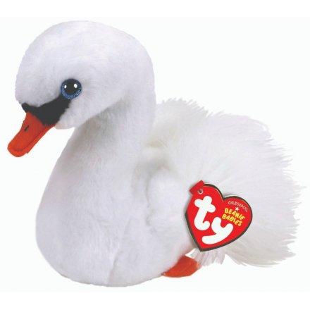 TY Beanie Baby Soft Toy - Gracie Swan