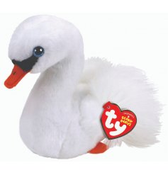 A cute and cuddly swan TY soft toy, part of the wonderful Beanie Baby range