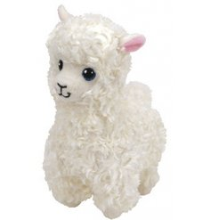 A cute and cuddly Alpaca TY soft toy, part of the wonderful Beanie Baby range