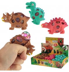 Fun and thrilling themed squishy dinosaur mesh balls!