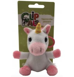 Part of the fun 'Clip Pals' range comes Yasmin! The magical unicorn bag clip