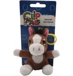 Part of the fun 'Clip Pals' range comes Hannah! The cute Horse bag clip