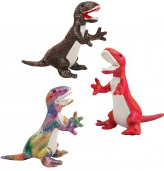 An assortment of 3 metallic toned dinosaurs toys from the fun 'Sandimal' range