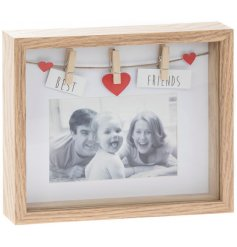 Treasure your fondest memory with your best friend using this beautifully simple wooden picture frame