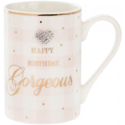 Happy Birthday Gorgeous Mad Dots Mug