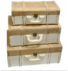 these 3 sized wooden boxes will make perfect accessories in any home needing additional storage