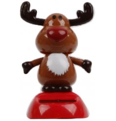 A cute novelty reindeer design solar pal. A fun and festive decoration.