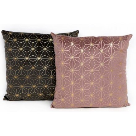 Rose Pink/Smoke Grey Velvet Cushions 45cm