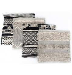 Invite a Pure and Warm sense to your home space with this chic assortment of fabric cushion covers