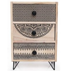 Invite a Pure and Warm sense to your home space with this wooden draw decoration