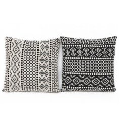 Bring some added comfort to any home interior with this chic assortment of plump cushions