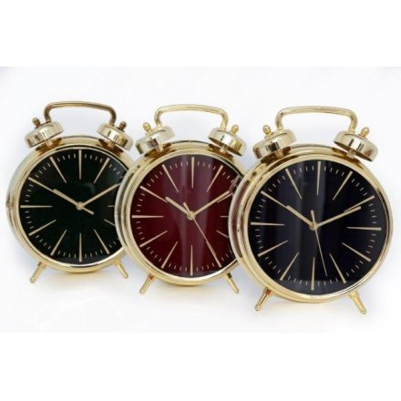 Gold Electroplated Alarm Clocks 32cm
