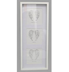 Bring a beautifully sentimental touch to any home interior with this sleek white 3 framed wall art