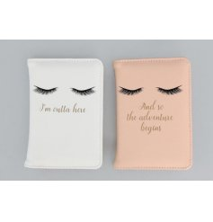 Glamorous passport covers in two assorted designs