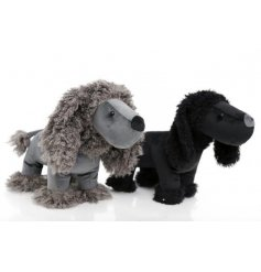 A charming assortment of Grey and Black toned poodle doorstops