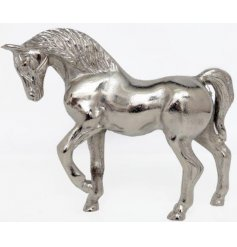 Introduce a Modern Silvered touch to your home space with this beautifully decorated ornamental figure