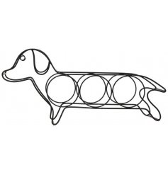 A stylish Dachshund shaped wine rack, ideal for holding your red, white and rose bottles!