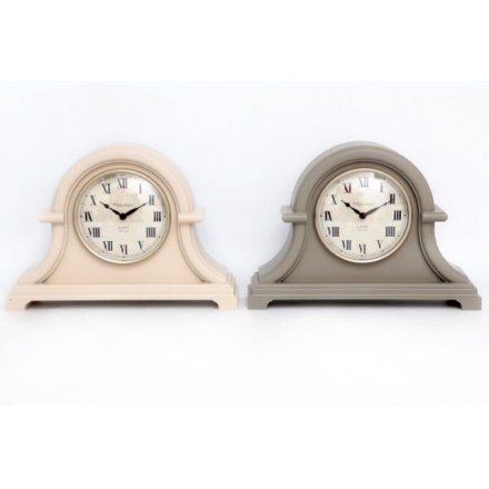 Cream/Grey Mantel Clock