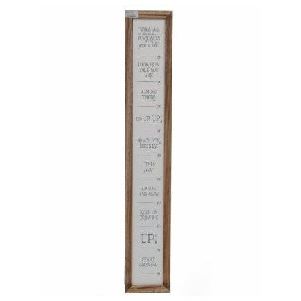 Natural Wooden Growth Chart
