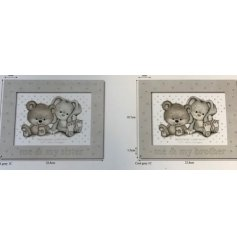 Two assorted brother and sister silver photo frames