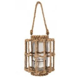 Bring a Rustic Coastal feel to any home interior with this hanging rope lantern