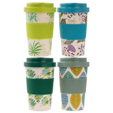 Add a Greenery Trend to your morning commute with this stylish assortment of Bamboo Based Travel Mugs