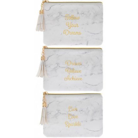 White Marble Assorted Coin Purses
