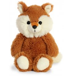 A plush little fox soft toy, covered with soft to the touch orange fur and filled with the most snuggable stuffing