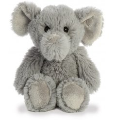 Covered with the softest grey fur and filled with the most huggable plush stuffing