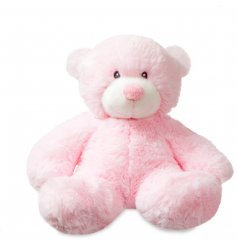 A cute baby pink Bonnie bear soft toy
