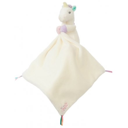 Part of the wonderfully snuggly 'Aurora Baby' range is this super soft cream coloured unicorn blankie