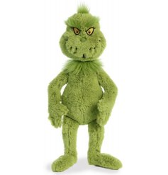 Part of our new range of Dr Seuss themed soft toys is the wonderfully grumpy Grinch!