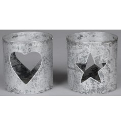 Bring a distressed edge to any home interior or garden set up with this stylish assortment of rustic metal tlight holder