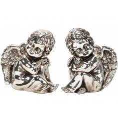 Bring an Angelic touch to your home decor or displays at Christmas time with this beautiful assortment of silver toned