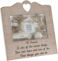 Bring a beautiful and sentimental touch to any home with this sweetly finished wooden picture frame