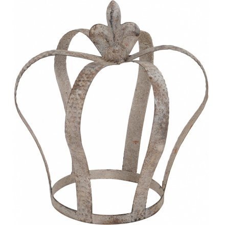Rustic Metal Crown, 23cm