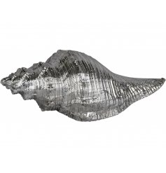 Bring a Luxe Silver touch to your home decor or display with this beautifully finished seashell