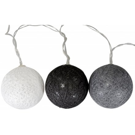 Storm Grey Woven String Lights