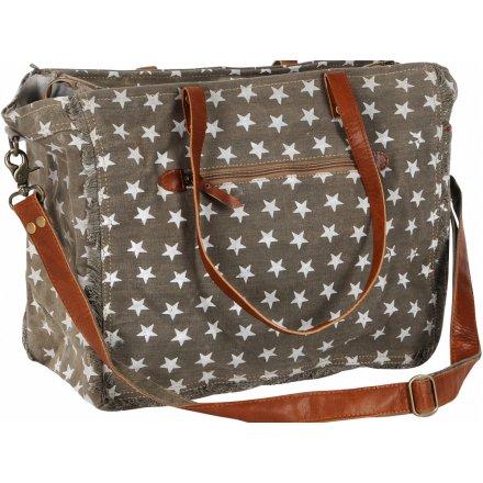 Brown Star Pattern Bag 44cm