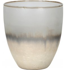 Bring a touch of Luxe to any home interior with this beautifully distressed glass candle holder