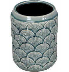A beautiful glazed vase with a coral reef pattern. A chic interior accessory for the home.