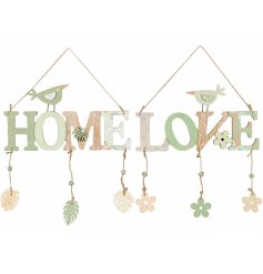 A sweet Easter inspired assortment of wooden plaques, decorated with natural tones, green features and floral decals