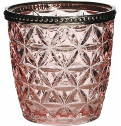 Bring home a Rough Luxe edge with this beautifully finished glass candle holder