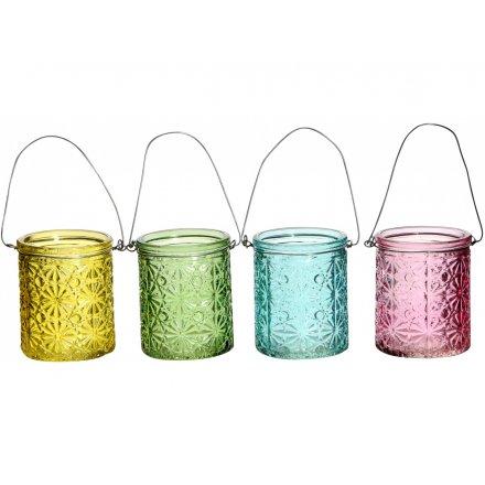 Floral Glass Lanterns, 4a