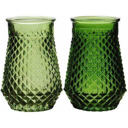 Green Glass Vase 2a 42291 Homeware Jugs Vases