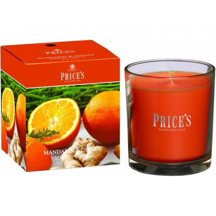 Prices Boxed Candle - Mandarin & Ginger