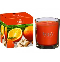 A beautifully scented Mandarin & Ginger candle with a matching gift box. A perfect home accessory to welcome in a sweet